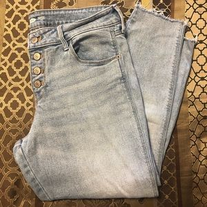 Old Navy Rockstar button fly jeans